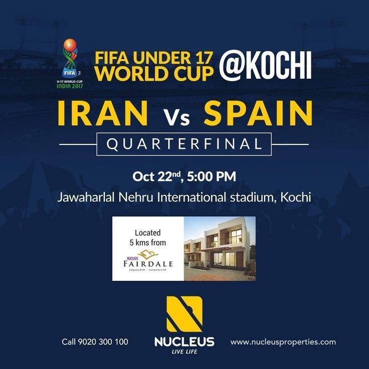 Catch the exciting FIFA UNDER 17 WORLD CUP Quarter final between Iran and Spain ...
