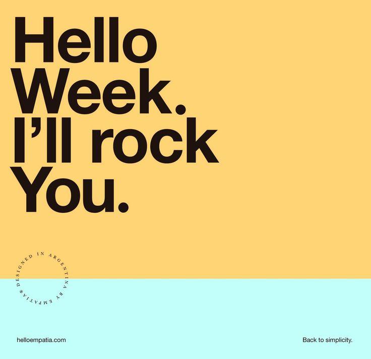 Hello Week.: