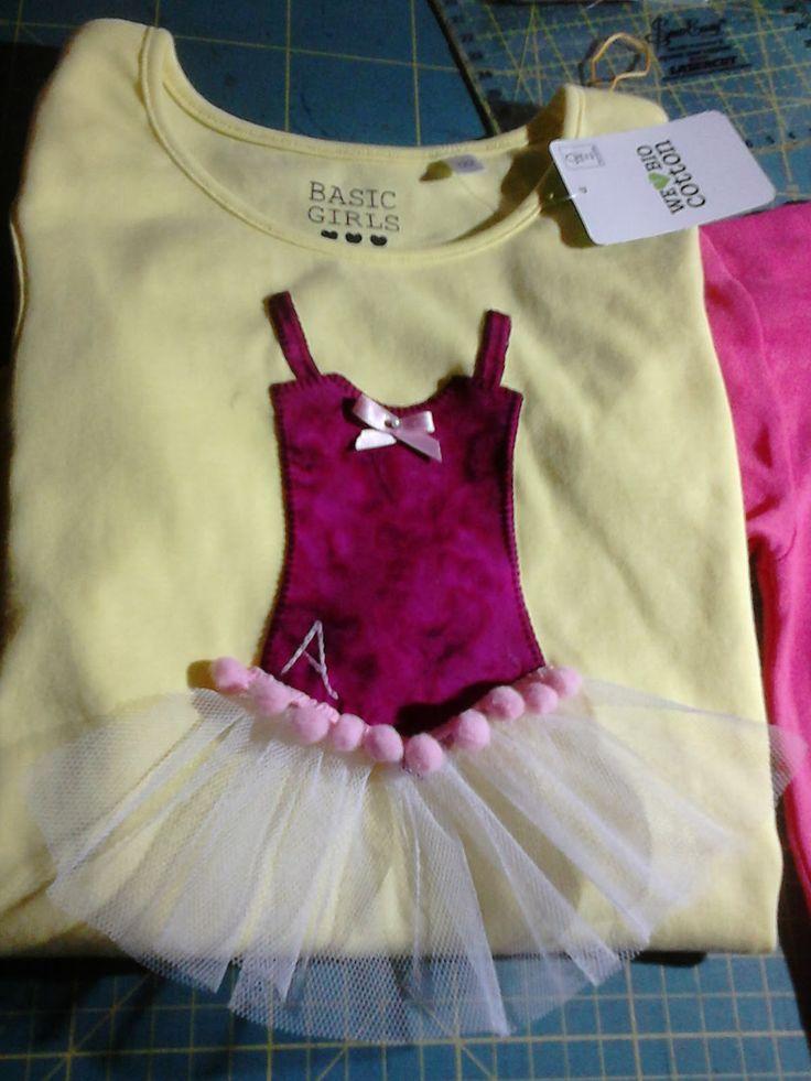 camiseta vestido bailarina