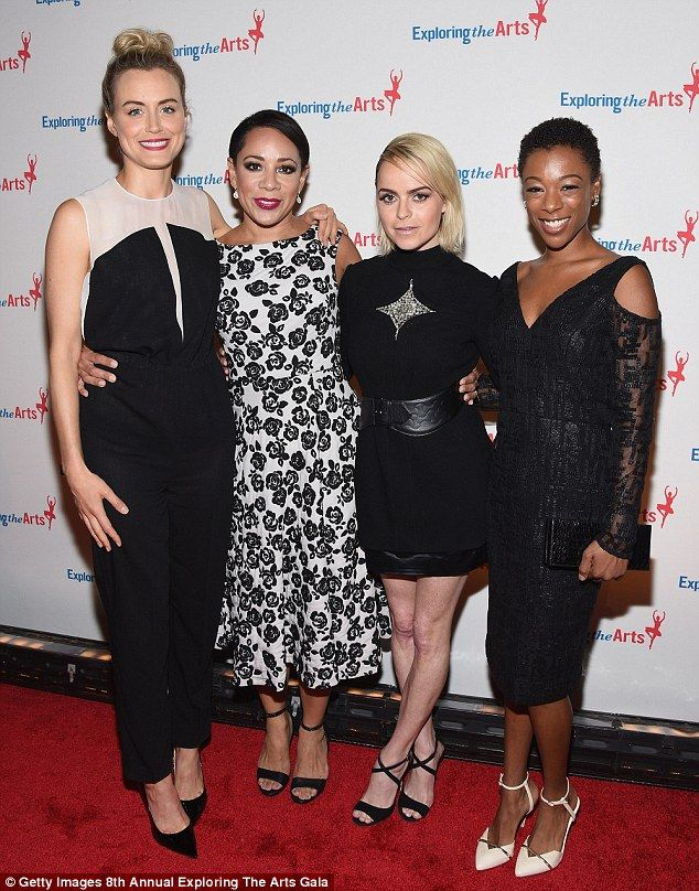 Nice change: The girls of Orange Is The New Black certainly make up for it when not shooti...