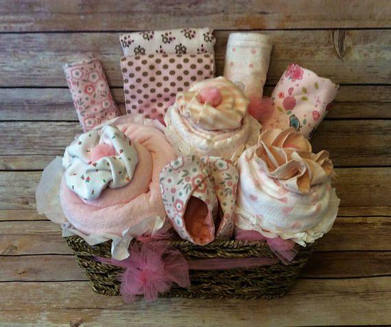 Baby girl gift basket baby girl shower gift infant layette