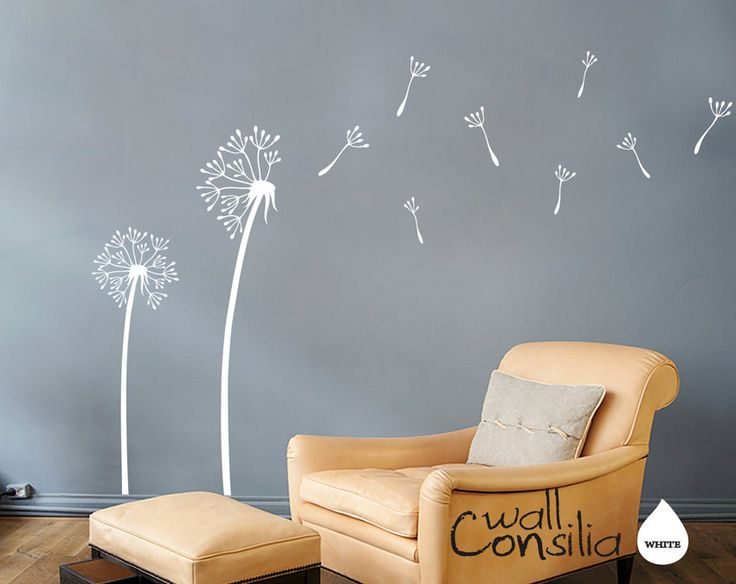 Dandelion Wall Decal   Dandelion Wall Sticker   Dandelions In The Wind Decal    Large: Part 59