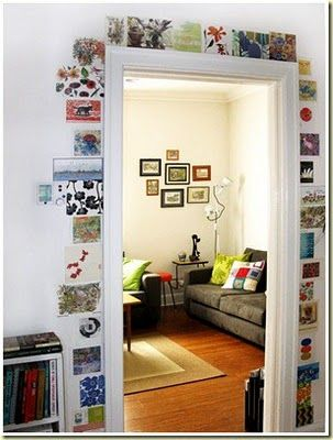 what a great way to display postcards and small photos