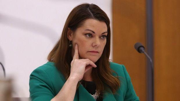 Senator Sarah Hanson-Young at the parliamentary inquiry on Tuesday.