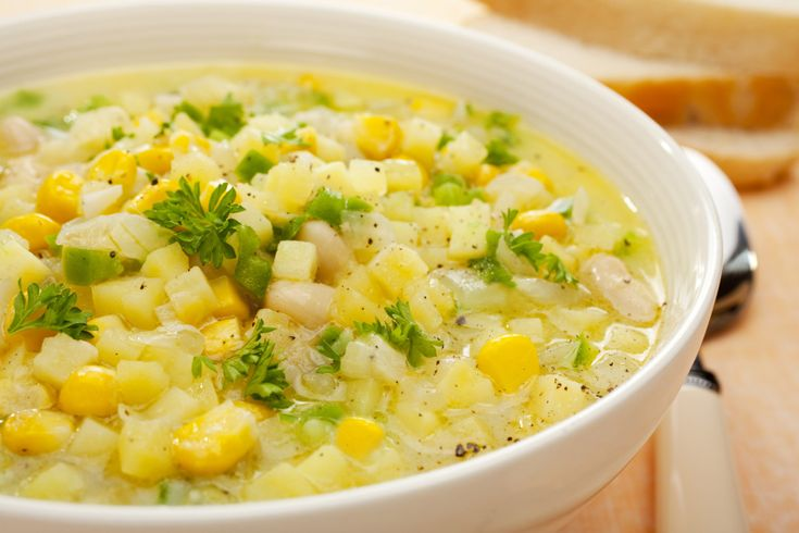 Recipe of the Day ~ Simple Vegan Corn Chowder  #vegancornchowder #vegansoups #veganandmacrobiotic #macrobioticrecipes #recipeoftheday #goodnessg