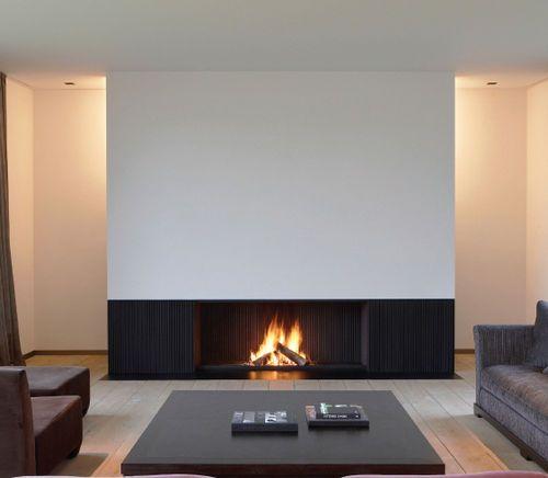 Cheminée encastrée contemporaine (foyer ouvert à bois) UNIVERSAL Metalfire