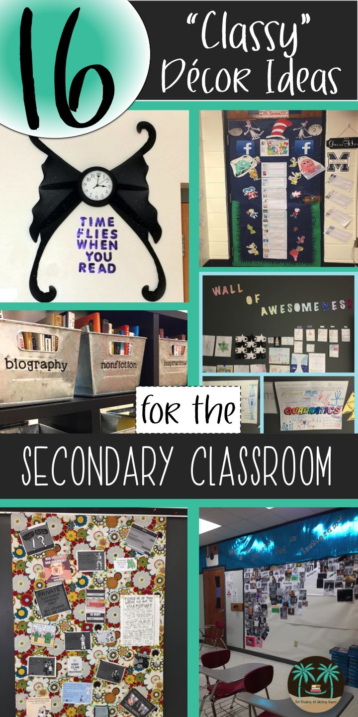 "16 ""Classy"" Decor Ideas for Your Secondary Classroom 