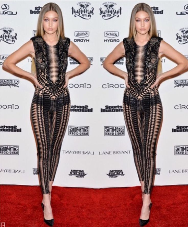 I Love Gigi Hadid's outfit at the SI Swimsuit Launch Party 2016