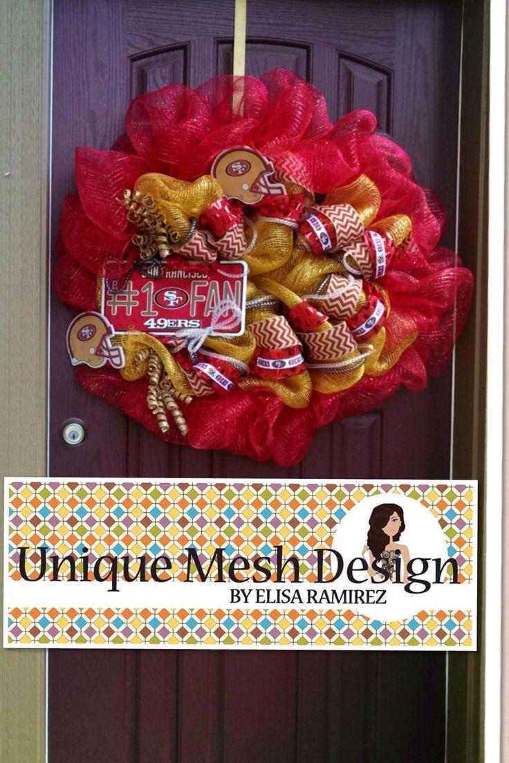 49ers wreath