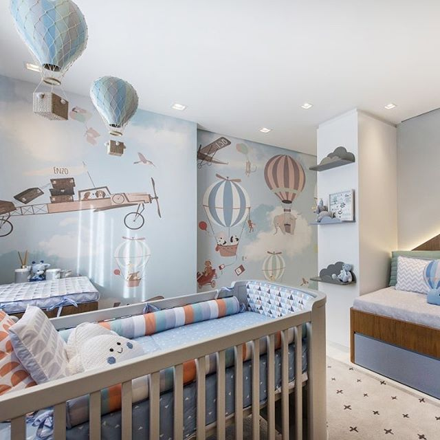 What Do You Think Of This Hot Air Balloon Themed Nursery Greissepanazzolo Hot Air Balloon Nursery Decor Nursery Baby Room Nursery Room Boy