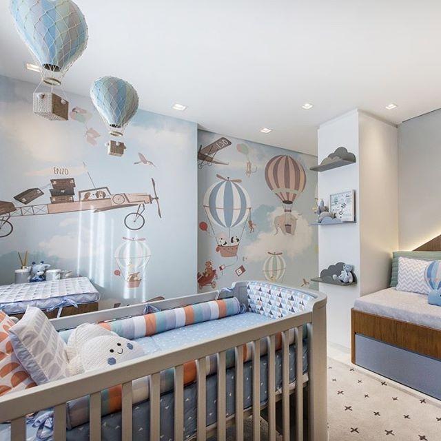 Hot Air Balloon Themed Nursery