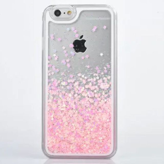 For IPhone 5s Case Transparent Hard PC Cover Dynamic Liquid