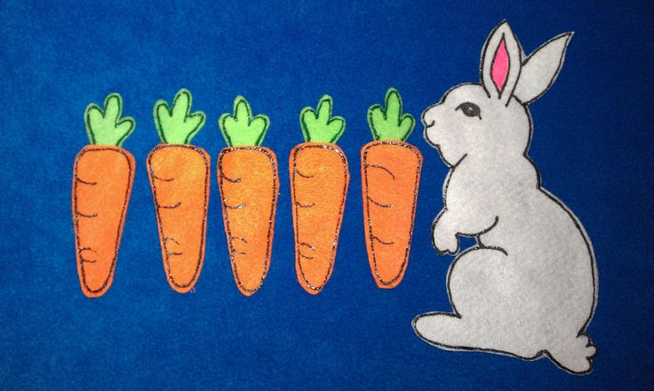 Bunny and Carrots by PlayfulPathFelts on Etsy