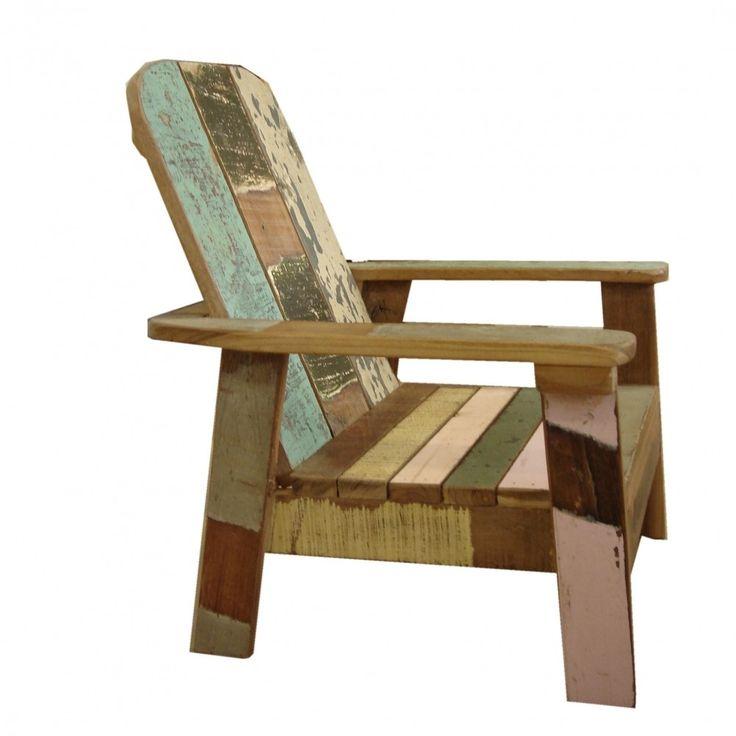 Sloophout loungestoel