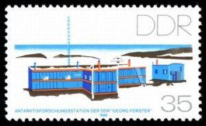 Briefmarke der DDR von 1988 mit der nach Georg Forster benannten arktischen Forschungsstation (MiNr. 3160). Die Arbeit dort wurde 1993 einge...