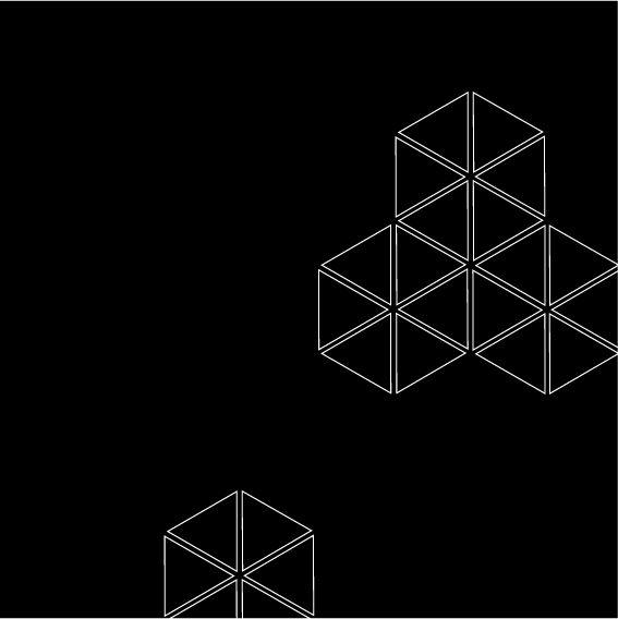 365 triangoli - 1forday #triangle #365 triangoli #geometric #graphic #bw #rotation #optical