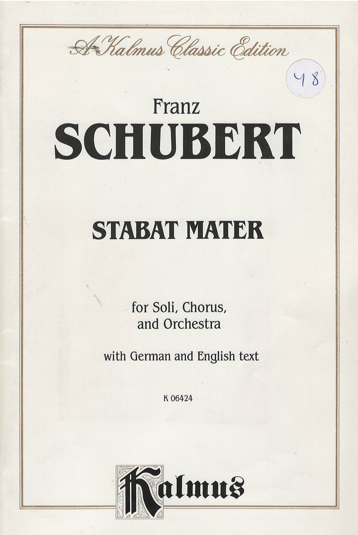 A choral worship cantata for SATB divisi with STB soli composed by Franz Schubert.