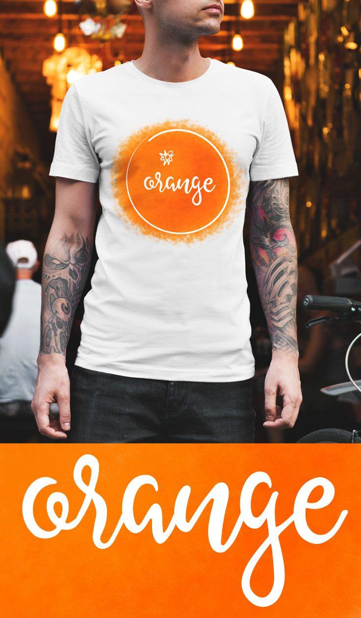 "49c82eaba Fun and trendy citrus fresh art illustration t-shirt design with slogan  ""orange"". Fruit and veggies Inspired tees. Citrus art illustration t shirt."