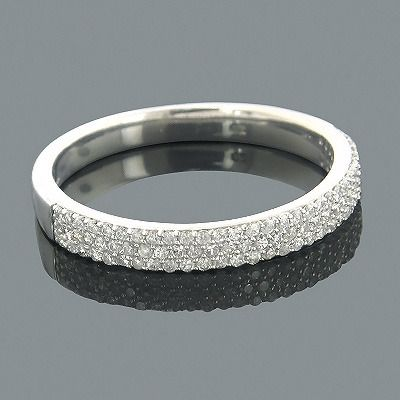 LOVE THiS !     Fantastic Diamond Wedding Bands! This 14K Gold Round Diamond Band showcases 0.38 ctw of sparkling round diamonds, each masterfully pave set in a lustrous gold frame. Featuring a versatile design and a highly polished gold finish, this ladies diamond wedding band is available in your choice of 14K white, yellow or rose gold.