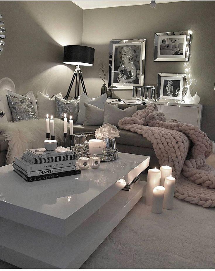Best 25 silver bedroom decor ideas on pinterest white - Feminine living room design ideas ...