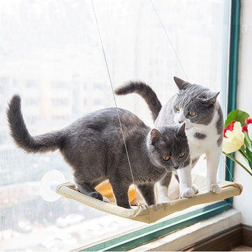 Yani HP-DC1Pet Cat Window Hammock Soft Cat Kennels 15KG Cat Safe Hanging Shelf Seat Cat Beds at Banggood