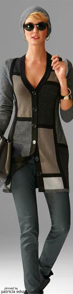Madeleine. Mondrian-inspired sweater - love it!