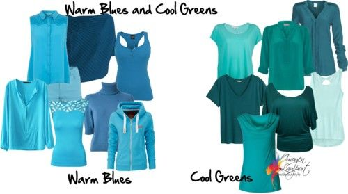 How To Identify Warm Blues And Cool Greens Summer Winter Skin Tone Pinterest Blue Inside Out Style