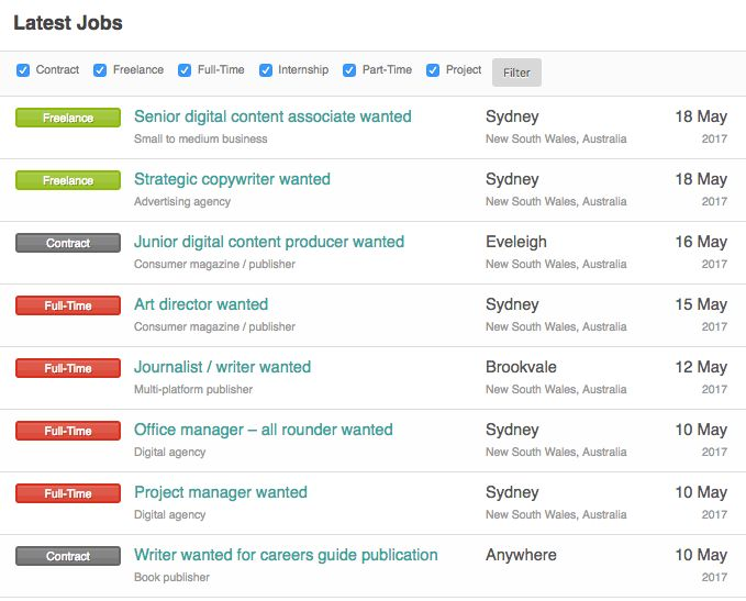 Latest jobs at rachelslist.com.au #media #digital #content #copywriting #journalism #editing #publishing