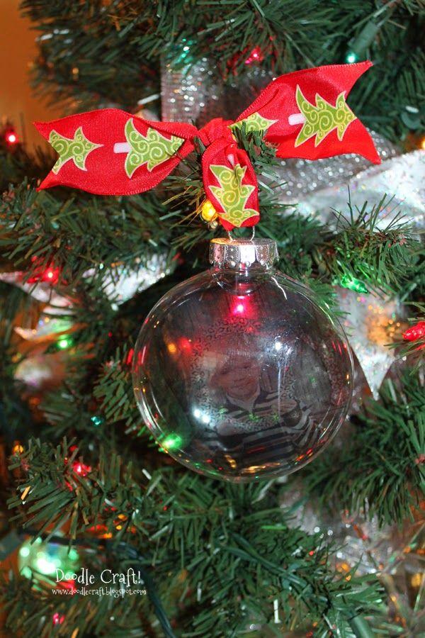 Doodlecraft: Photograph Fillable Ornaments! - Photograph Fillable Ornaments! Christmas Crafts! Pinterest