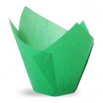 Muffiny tulipan zielone 50x80 mm