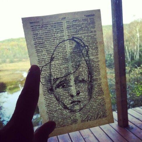 www.melsamontagne.com / aquarelle, dictionnaire Allemand, visage