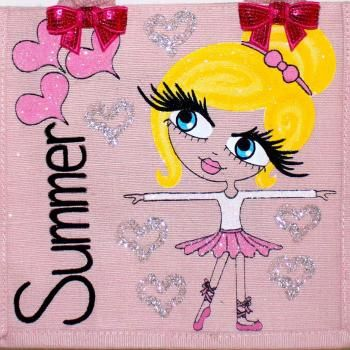HunniBunni Summer Little Miss Ballerina Personalised Mini Juco Bag