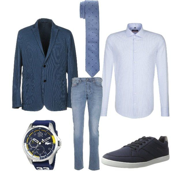 outfit giacca e jeans uomo