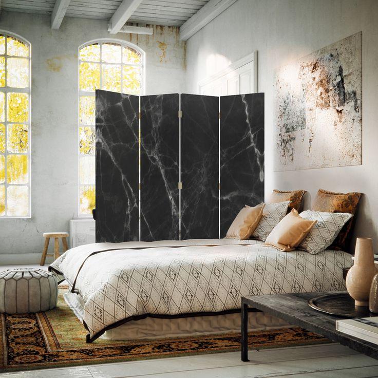 Marmur, Parawan dwustronny 360°  na płótnie - Canvas,