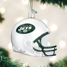 Old World Christmas®️️ New York Jets NFL Football Helmet Glass Ornament direct from the ChristmasOrnamentStore.com