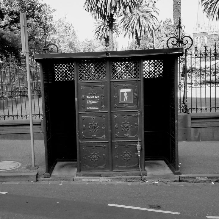 Victorian cast iron Gentlemen's urinal, Parliamentary Gardens Melbourne, and still in use