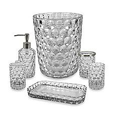Crystal Ball Glass Bathroom Accessories In Clear   About $80 For Each Set  (good Choice
