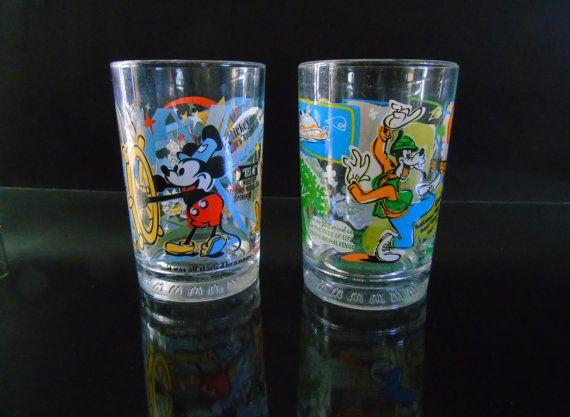 Disney Trivia Tumbler Glasses 100 Years of by 777VintageStreet
