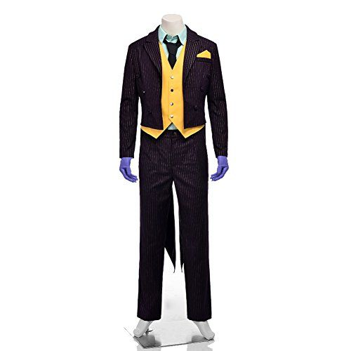 Introducing MagicCosplay Mens The Batman Arkham City Joker Halloween Cosplay Costume XL. Get Your Ladies Products Here and follow us for more updates!