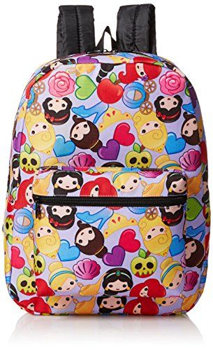 Disney Little Girls Princess Emoji Print Backpack Purple One Size -- Learn more by visiting the image link.