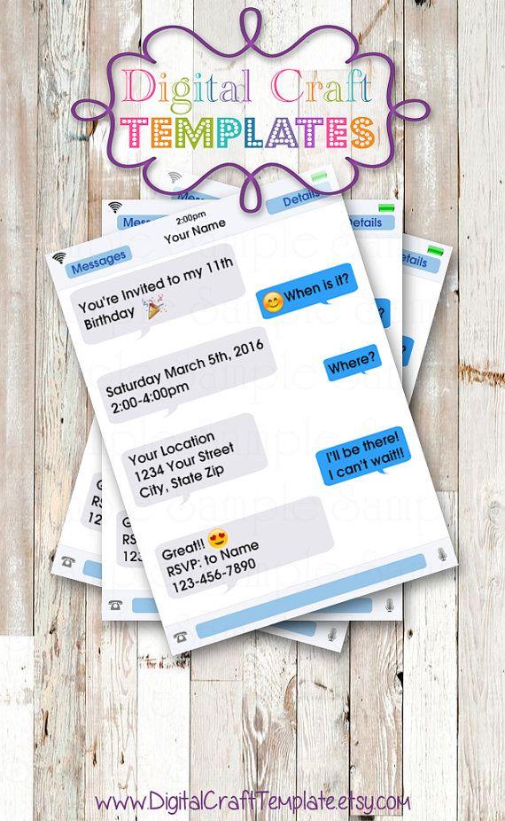 invitacion para cumplaños con forma de Chat!!