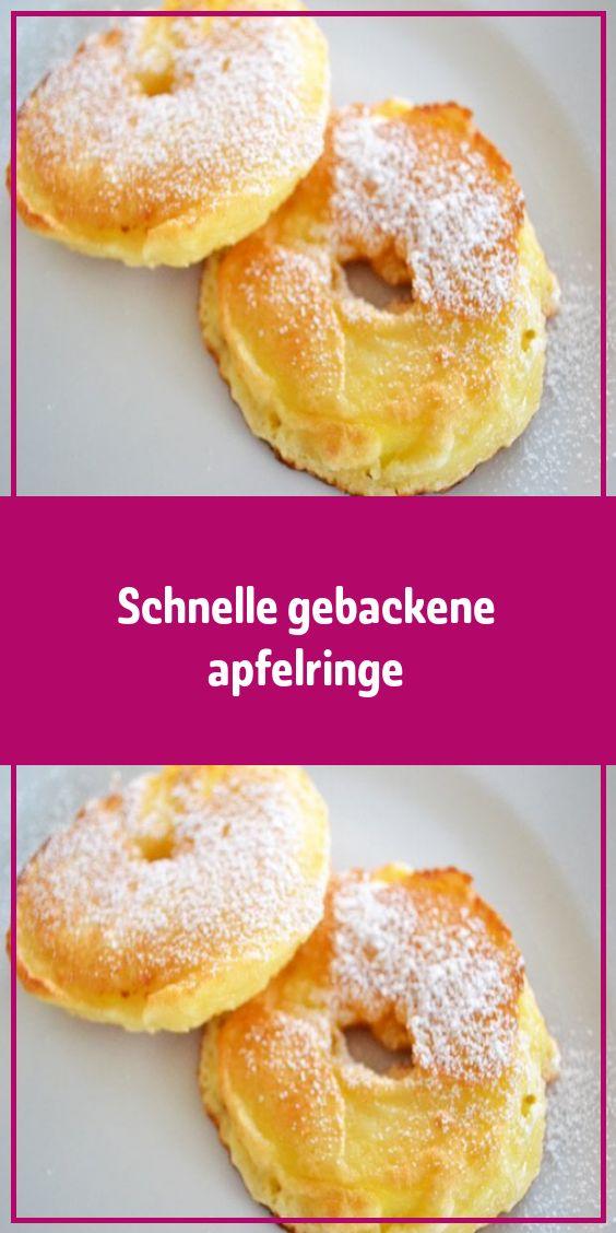 Schnelle gebackene apfelringe – Einfache Rezepte