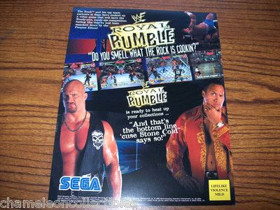 WWF Royal Rumble, 2000 flyer, arcade
