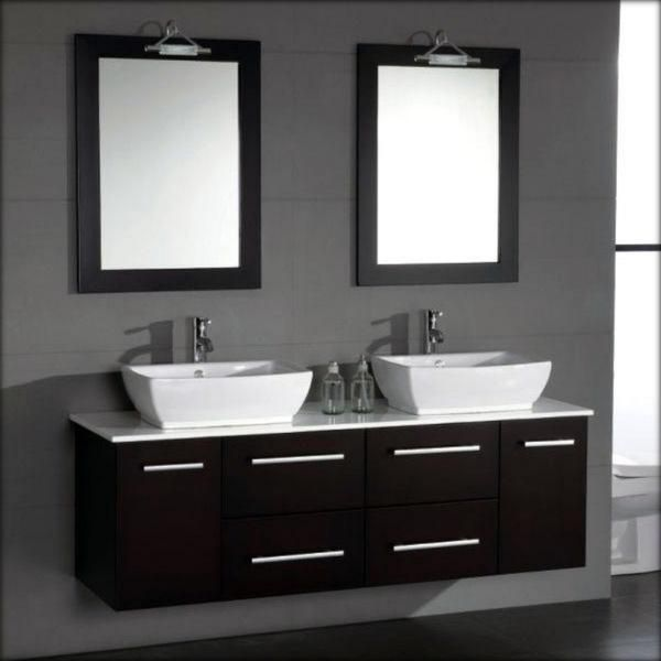 Pics Of Cambridge inch Solid Wood and Porcelain Double Sink Vanity Set will meet your needs if you share the bathroom during busy mornings
