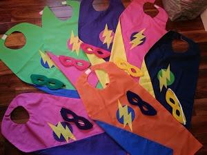 Homemade Super Hero Capes and Masks - rainbow of super hero fun