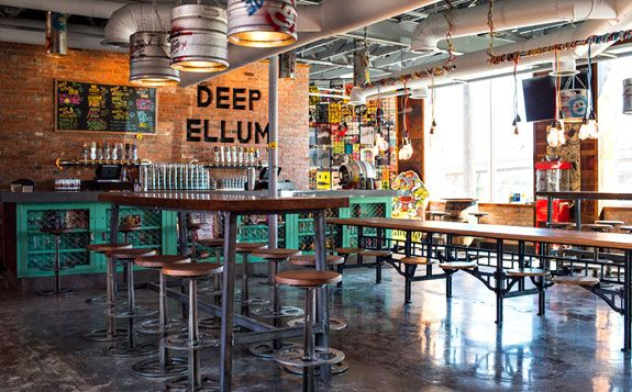 Deep Ellum Brewery Opened a Bar. It's a cozy hangout you'll visit for draft beers, bar games and watching things on TV, and it's open now at Deep Ellum Brewing Company.  Deep Ellum Taproom 2823 St. Louis St Dallas, TX 75226
