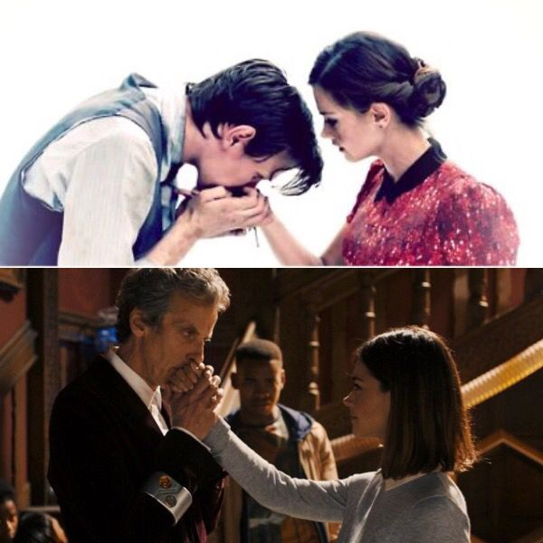 The Doctor and Clara Oswald, in the beginning and the end. 1: Journey to the Centre of the Tardis 2: Face the Raven \\ FEELS
