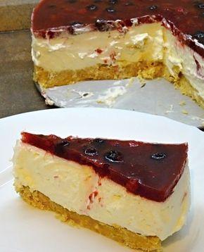 Nepečený cheesecake s ovocem