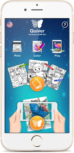 Quiver 3D Augmented Reality coloring apps: print, color and see your drawing in beautifully hand-animated 3D worlds