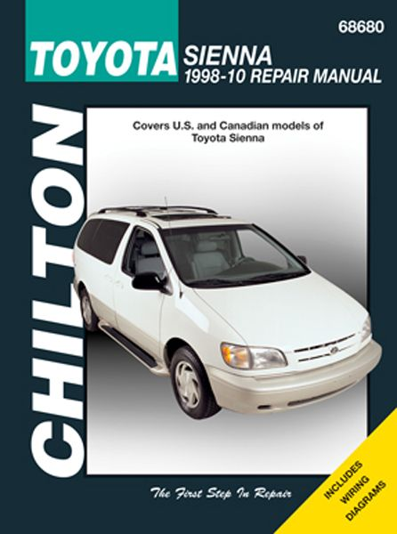 Toyota Sienna Chilton Repair Manual 1998-2010: Covers All Sienna models.Chilton Total Car Care is the most… #CarParts #AutoParts #TruckParts